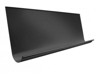 Žlab pozinkovaný černý 650 mm, délka 4 m(10883)