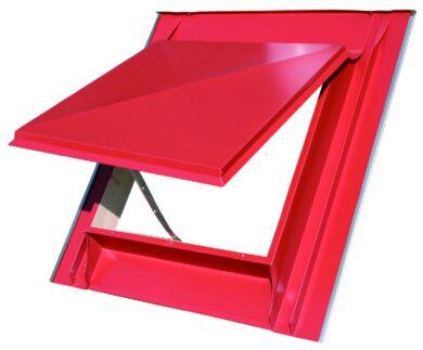 Vylézák hliníkový červený 60 x 60 cm, celoplechový(1711)
