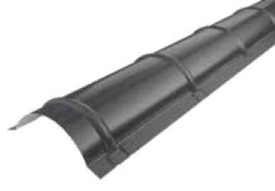 Střešní hřebenáč oblý, intenzivně černý RAL 9005, délka 2m matný(2132)