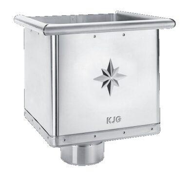 Kotlík pozinkovaný sběrný kubický excentrický 100 mm(2850)