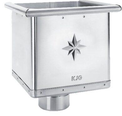 Kotlík titanzinkový sběrný kubický excentrický 100 mm(2856)