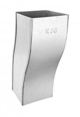 Koleno pozinkované hranaté 100 mm odskokové(3591)