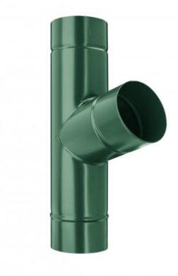 Odbočka svodu pozinkovaná mechově zelená  80/80 mm(4318)
