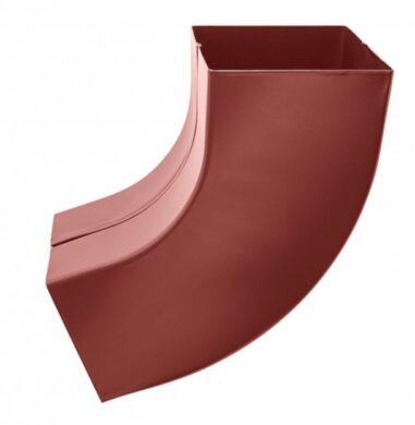 Koleno pozinkované hranaté ocelově červené 100 mm(505429)