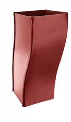 Koleno pozinkované hranaté ocelově červené 120 mm odskokové(505432)