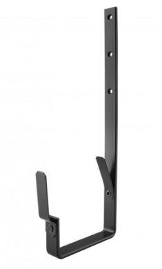 Hák pozinkovaný hranatý černý 400 mm(505444)