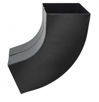 Koleno pozinkované hranaté černé 120 mm(505488)