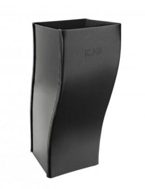 Koleno pozinkované hranaté černé 120 mm odskokové(505489)
