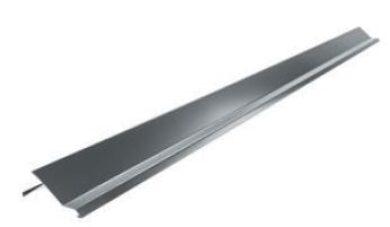 Lemování krajové pozinkované šedo bílé r.š.250 mm, délka 3 m(7748)