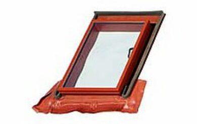 BRAMAC okno Luminex TOP 70 x 100 cm (otvor 48,5 x 72,5 cm) cihlově červené(8159)