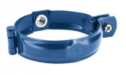 Objímka pozinkovaná modrá 100 mm, bez hrotu, s metrickým závitem M10