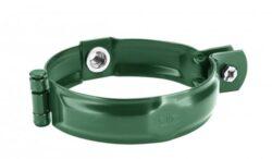 Objímka pozinkovaná mechově zelená 100 mm, bez hrotu, s metrickým závitem M10