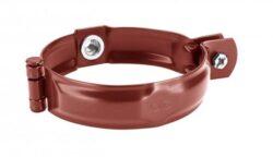 Objímka pozinkovaná ocelově červená 100 mm, bez hrotu, s metrickým  M10