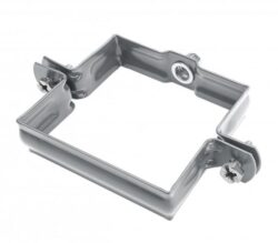 Objímka pozinkovaná hranatá prachově šedá 100 mm, bez hrotu, metrický závit M10