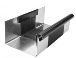 Žlab dilatační pozinkovaný černý r.š. 250 mm, délka 260 mm