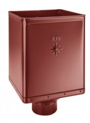 Kotlík pozinkovaný sběrný DESIGN ocelově červený  80 mm excentrický