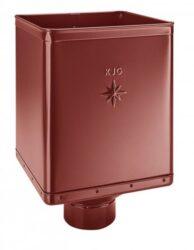 Kotlík pozinkovaný sběrný DESIGN ocelově červený  80 mm