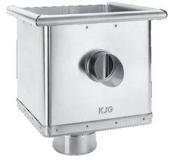 Kotlík pozinkovaný sběrný kubický excentrický s výtokem 100 mm
