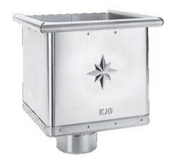Kotlík pozinkovaný sběrný kubický excentrický 100 mm