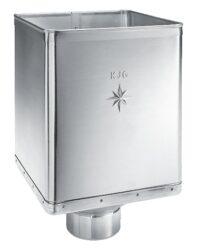 Kotlík titanzinkový sběrný DESIGN excentrický 120 mm