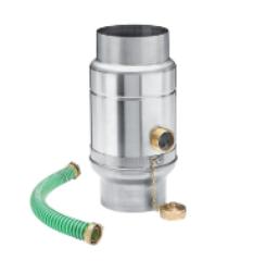 zachytávač vody s přípojnou hadicí titanzinkový průměr 100 mm