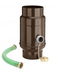 zachytávač vody s přípojnou hadicí pozinkovaný hnědý průměr 100 mm