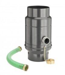 zachytávač vody s přípojnou hadicí pozinkovaný antracit průměr 100 mm