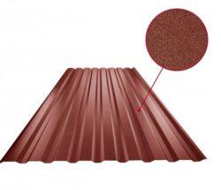 Plech trapézový ocelově červený RAL 3009, TR18B - stěnový 0,50mm matný