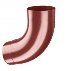 Koleno hliníkové ocelově červené  80/72st. lisované