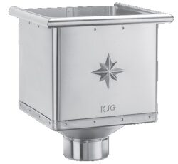Kotlík pozinkovaný sběrný kubický  80 mm