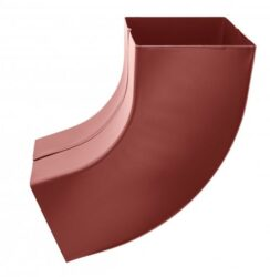 Koleno hliníkové hranaté ocelově červené  80 mm
