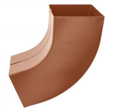 Koleno hliníkové hranaté měděno hnědé  80 mm