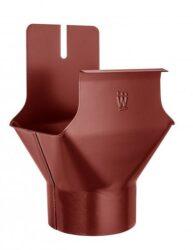Kotlík hliníkový hranatý ocelově červený 250/80 mm na kulatý svod