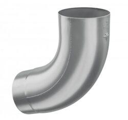 Koleno hliníkové světle šedé  60/72st. lisované