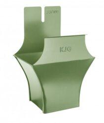 Kotlík pozinkovaný hranatý trávově zelený 500/150 mm