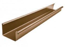 Žlab pozinkovaný hranatý metalický měděný 400 mm, délka 6 m
