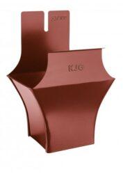 Kotlík pozinkovaný hranatý ocelově červený 400/120 mm