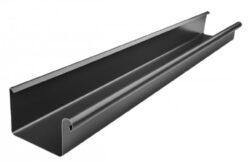 Žlab pozinkovaný hranatý černý 250 mm, délka 4 m