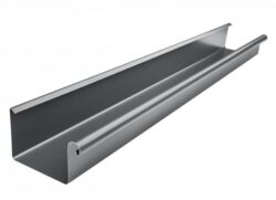 Žlab pozinkovaný hranatý antracit 250 mm, délka 4 m