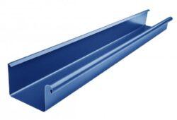 Žlab pozinkovaný hranatý modrý 500 mm, délka 4 m