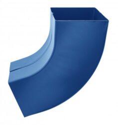 Koleno pozinkované hranaté modré  80 mm