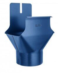 Kotlík pozinkovaný hranatý modrý 330/100 mm na kulatý svod