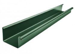 Žlab pozinkovaný hranatý mechově zelený 500 mm, délka 4 m