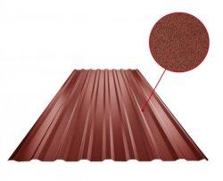 Plech trapézový ocelově červený RAL 3009, TR18A - střešní 0,50mm matný