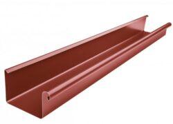 Žlab pozinkovaný hranatý ocelově červený 200 mm, délka 3 m
