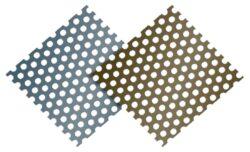 Plech hliníkový děrovaný 0,70 x 1000 mm zeleno hnědý/antracit RAL7013/7016