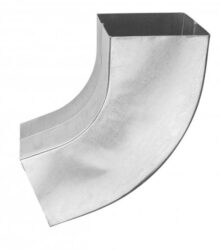 Koleno pozinkované hranaté 100 mm lisované