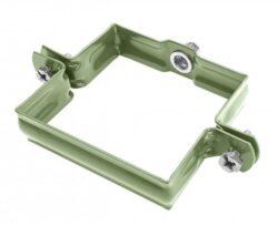 Objímka pozinkovaná hranatá trávově zelená 100 mm, bez hrotu, metrický závit M10