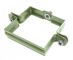 Objímka pozinkovaná hranatá trávově zelená  80 mm, bez hrotu, metrický závit M10