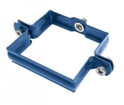 Objímka pozinkovaná hranatá modrá  80 mm, bez hrotu, metrický závit M10